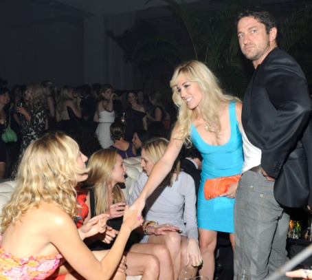Raquel Zimmerman, Tinsley Mortimer, and Gerald Butler